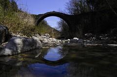 Ponte della Pia, Sovicille (Antonio Cinotti ) Tags: leica leicat siena tuscany toscana italy italia pontedellapia sovicille rosia bridge river reflection