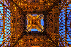 Looking up into the Tower (akirat2011) Tags: france paris eiffel