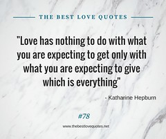 Love Quotes by Katharine Hepburn (TheBestLoveQuotes) Tags: katharine hepburn