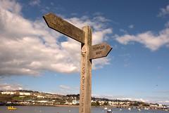 Combeinteignhead, Devon #8 (adamnwylds) Tags: combeinteignhead devoncoast sunny warm uk southwest beach riverteign river signpost directionalpost old ruined