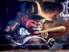 the warriors (www.mariojin.com) Tags: jin mariojin graffiti milanografftiti graffiticharacter warriors guerrieridellanotte baseball newyorkyankees italiagraffiti