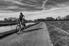 Cycliste (jaclen) Tags: eau water canal rivière vélo bike river channel