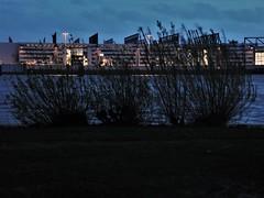 Hamburg Elbe Impression (nadjagolitschek) Tags: hamburg elbe nacht airbus wasser stimmung atmosphäre natur