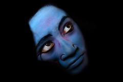 face of gajon (mailmesanu20111) Tags: gajon hinduculture hindutradition god hindugod krishna nikon imnikon girl charak faceofindia art facepainting blue bluelady creativephotography people travelphotographyindia travel face portrait ritual