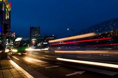Night city light trials (akira.nick66) Tags: cafe city cityview holiday korea korean lighttrails motion motions moving nightphaotography nightscene nightview seoul seoulcity southkorea streetlights streetphotography streetview travel traveling vacation
