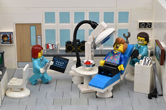 Open Wide Please (Close Up) (MinifigNick) Tags: afol dentist surgery lego