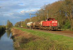 DB Cargo 6418 @ Herfte (Sicco Dierdorp) Tags: db schenker dbs dbc cargo serie6400 61300 onnen kijfhoek zwolle herfte ketelwagen keteltrein