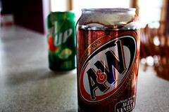 A&W Root Beer (loveyoruxx) Tags: soda sodas drink drinks drinking aw rootbeer root beer 7up 7 up