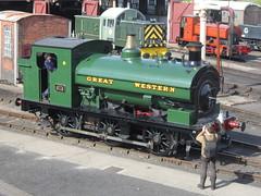 IMG_4807 - GWR Hudswell Clarke Saddle Tank 813 (SVREnthusiast) Tags: didcotrailwaycentre didcot railway centre gwrhudswellclarkesaddletank813 gwr hudswellclarke saddletank 813