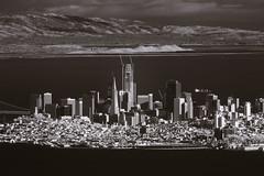 San Francisco seen from Mount Tamalpais (fksr) Tags: mounttamalpais blackandwhite infrared landscape california sanfrancisco sanfranciscobay