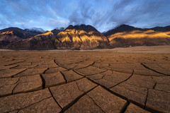 Breaking Through V2 (D Breezy - davidthompsonphotography.com) Tags: deathvalley desert playa mountains cracks mudtiles mudcracks travel roadtrip spring drama sunrise camping hiking remote backcountry nikon d800e reallyrightstuff explore