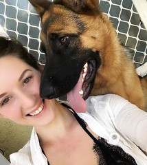 """See my album """"Jade's Journey"""" (bidkev1 and son (see profile)) Tags: dog germanshepherd alsatian canine young pretty sexy beautiful girl woman lady"""