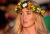 Blonde Thoughts (RicoLeffanta) Tags: blonde girl lady woman female flower wreath headband thinking pondering hawaii rico leffanta
