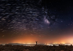 The Hidden Magic (Mahmood Alsawaf) Tags: iraq mahmoodalsawaf photography landscapes mountains nature night nightphotography nightscape sky stars milkway canon flickr art astrophotography astro colors lights lightpollution stack startrails trails