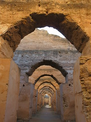 Arches, ruins of royal stables, Heri es-Souani, Meknes, Morocco (Paul McClure DC) Tags: meknes morocco almaghrib jan2017 meknès historic architecture
