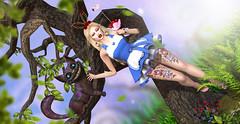 Cheshire & Alice (meriluu17) Tags: hextrordinary brii ersch cheshire cat wonderland alice fantasy outdoor people magic magica magical