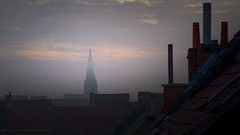 Rooftops of Ghent (richard.scott1952) Tags: city cityscape night nightphotography nightscene church environment pollution smoke steam travel tourist trip gent ghent belgium eu europe old roof chimney view scene scenic sky cloud clouds weather fog mist rain light shadow sun sunrise dawn twilight leica m240 leicasummicron35mmf20iv