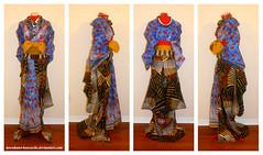 Angola Kitsuke Test Run (Kurokami) Tags: toronto ontario canada kimono japan japanese asia asian kitsuke woman women girl girls lady ladies anime north 2017 fashion show angola africa african wafrica yukata textile himba momuila oiran tayuu maiko geiko geisha sculptural hair style katsura wig kanzashi bead beads beaded