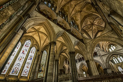 Salisbury Cathedral. (Ian Emerson) Tags: salisbury cathedral architecture building worship heritage indoor ceiling beauty alter pillars windows stained glass stonework canon 1018mm wiltshire england lightroom english