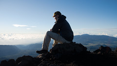 Enjoying the morning on the top of the Piton des Neiges :) (GötzD) Tags: réunion france piton neiges trekking trek hiking hike
