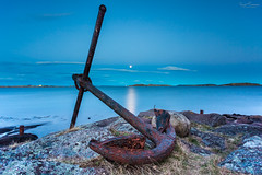 Finally Anchored (Kurt Evensen) Tags: landscape old leefilter le anchor weather vestfold sea norway longexposure maritime nature tønsberg sky seascape rusty rockyshore shore water