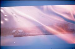 (✞bens▲n) Tags: pentax lx mamiya 50mm f2 film slide provia 100f japan nagano snow house multiexposure screen