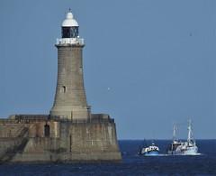 Fishing Boats PassingThe North Pier Light at Tynemouth (Gilli8888) Tags: tyneandwear northtyneside northsea southtyneside northshields southshields port ship boat vessel maritime fishing fishingboats portoftyne tynemouth lighthouse groyne northpier northpierlighthouse nikon p900 coolpix