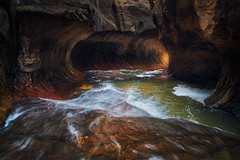 Super Speed (bryanchong.photo) Tags: subway zion national park utah landscape water tunnel canyon creek left fork outdoor cave hike