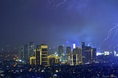 Rockwell City at night (Sumarie Slabber) Tags: manila philippines sumarieslabber lightning night photography city lights rockwell blue sky skyline