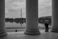 Keeping watch. (stephen_tvedt) Tags: washington washingtondc dc lincoln lincolnmemorial monument washingtonmonument districtofcolumbia usa pillars shadows architecture silhouette marble neoclassic neoclassical neoclassicalarchitecture