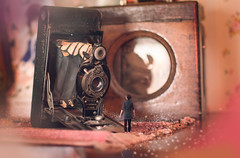 Simple Like Before (GideonAJWay) Tags: old retro vintage camera pose model miniture small fantasy composite conceptual history stfagans welsh nikon bokeh idea 52week d5200 motivation photoshop