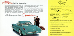 1956 Chevrolet Corvette (coconv) Tags: car cars vintage auto automobile vehicles vehicle autos photo photos photograph photographs automobiles antique picture pictures image images collectible old collectors classic ads ad advertisement postcard post card postcards advertising cards magazine flyer prestige brochure dealer 1956 chevrolet corvette convertible with optional hardtop green chevy 56 v8 sports