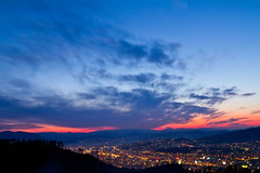 Sarajevo (Rae-J09) Tags: sarajevo bosniaherzegovina sunset landscape view beautiful stunning canon 7d 1635mm dusk cityscape mountains balkans lights blue