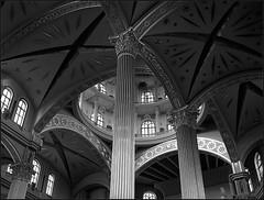 *** (Marta Wojtkowska) Tags: monochrome architecture church mamiya 645af mamiya645af mediumformat rollfilm 120 blackandwhite bw kodak trix400 400tx 645 hc110 kodakhc110