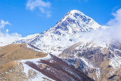 Mount Kazbek (Laszlo Horvath.) Tags: caucasus kaukazus kzbeg winter mount snow nikon georgia