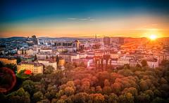Sunset of Vienna (AchillesSHAN) Tags: vienna city trip travel sunset sky sun sunlight tourism sunshine clouds lens nikon warm day cityscapes flare dreamy traveldestination nikond700 shanshihanachillesshan