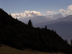 Morning mist... (aniko e) Tags: morning autumn mist mountains alps clouds forest austria hiking climbing tyrol seefeld