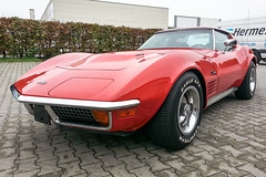 Corvette C3 Stingray Coupe (GNII-001) (Thomas Becker) Tags: red black rot chevrolet leather rouge big gm general stingray thomas c samsung motors note turbo smartphone chevy bumper chrome galaxy numbers ii correct automatic block vin matching 404 1972 corvette coupe v8 transmission coupé targa c3 becker mille miglia codes 454 973 hydramatic ls5 worldcars 141012 aviationphoto 454ci 454cui 74l 1z37w2s516833