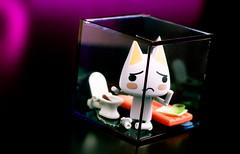 Life in a Box (Selphybrand) Tags: light macro art cat toy 50mm purple desk bokeh sony domo playstation toro deko inue issyo revoltech sal50f14
