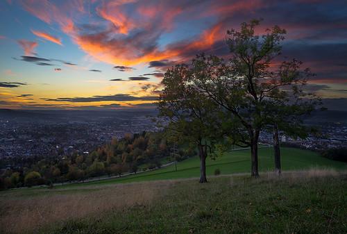 Sunset over Reutlingen