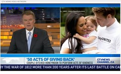 CTV News Canada (StayUNITED) Tags: charity canada love hope giving kindness ctv actofkindness actsofkindness stayunited 50acts stayunitedorg 50actsofgivingback marksvensson isminisvensson
