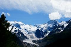 glacier.......... (atsjebosma) Tags: snow mountains alps clouds switzerland sneeuw pass wolken august bluesky glacier alpen pas gletscher 2014 bernina blauwelucht atsjebosma