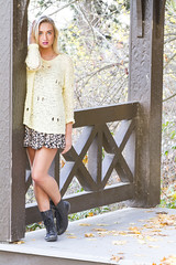 Shayla (austinspace) Tags: autumn portrait woman sunlight fall leaves washington model spokane dusk blond blonde magichour sweaterweather