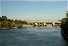 Bridge over the Rhone (catb -) Tags: bridge france river lyon rhône