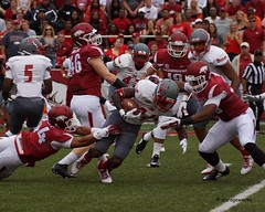 University of Arkansas Football vs Nichols State University (Garagewerks) Tags: college sport football university all state bigma sony sigma arkansas vs sec fayetteville nichols 2014 50500mm f4563 slta77v