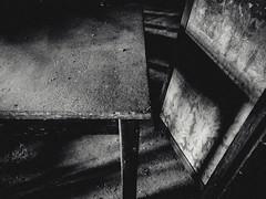 L'ombra del tavolo (facebook.com/andreapassonphoto) Tags: life old blackandwhite bw italy white black abandoned photo still italian italia foto photographer andrea room gothic hell objects dirty inferno bianco nero oggetti biancoenero treviso fotografo passon veneto abbandonato dismesso andreapasson