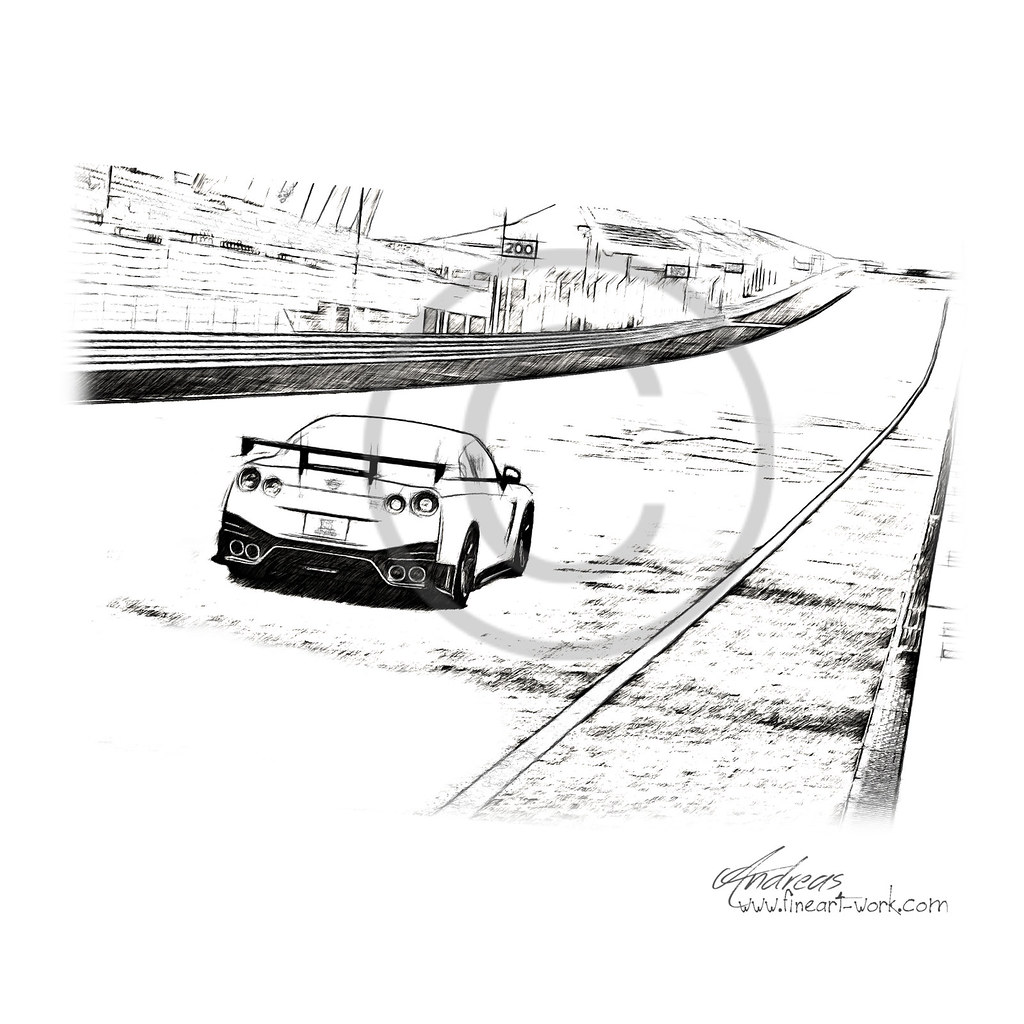 The Worlds Most Recently Posted Photos Of Autozeichnung And Nissan Gtr R35 Sketch Gt R Nismo 2014 Pencil Drawing By Fineart Workcom