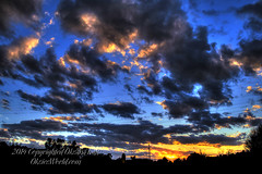 Grand Finally (OksiesWorld) Tags: trees sunset sky fall nature sign clouds train landscape outside outdoors cloudy michigan stop wires manual hdr burton electricwires fineartphotography photomatix tonemapped nikond3100 oksiesworldcom oksiesworld