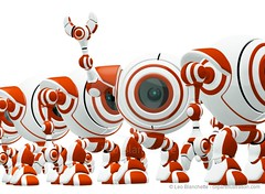 Small Robot Waving Hi and Standing Out (clipartillustration) Tags: camera red white cute digital standing computer out toy happy robot webcam colorful order technology looking bright vibrant unique object character surveillance internet device row line mascot plastic electronics round spy concept gadget waving leadership automation bold invention lense gismo