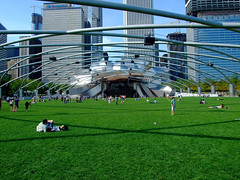 "Jay Pritzker Pavilion lawn • <a style=""font-size:0.8em;"" href=""http://www.flickr.com/photos/34843984@N07/15353834528/"" target=""_blank"">View on Flickr</a>"